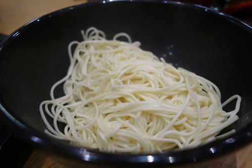 Kaedama (additional extra hard noodles) at Hakata Ikkousha