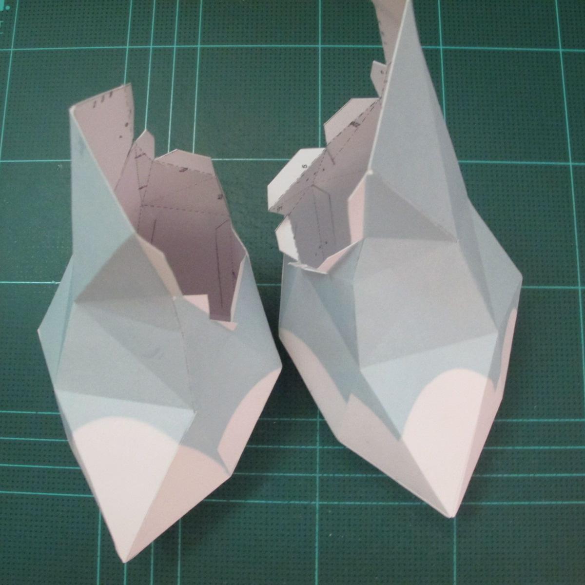 วิธีทำโมเดลกระดาษตุ้กตาคุกกี้รัน คุกกี้รสจิ้งจอกเก้าหาง (Cookie Run Nine Tails Cookie Papercraft Model) 004