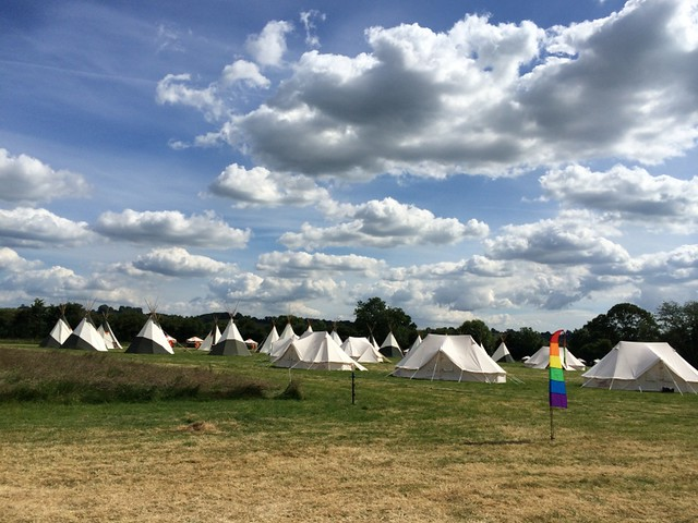 Yurts and Tipis at Wild Meadow Village - Glastonbury 2014