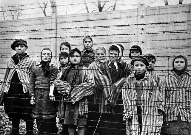 Children in Auschwitz concentration camp