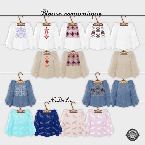 Blouse romantique all colors