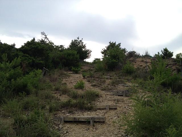 石津御嶽 五合目 登山道