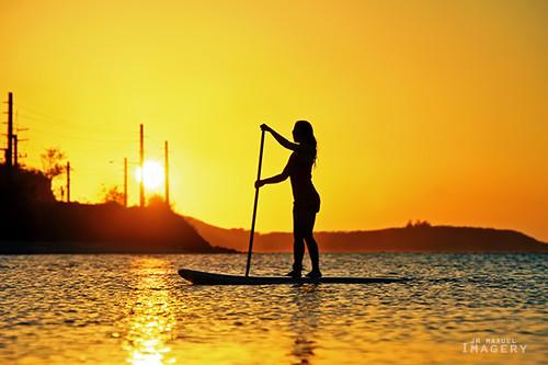 sunset silhouette guam adelup guvacay