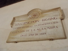 Photo of Washington Irving marble plaque