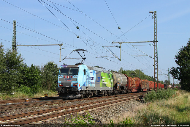 DB 185 152 'K+S' bei Diepholz #4221