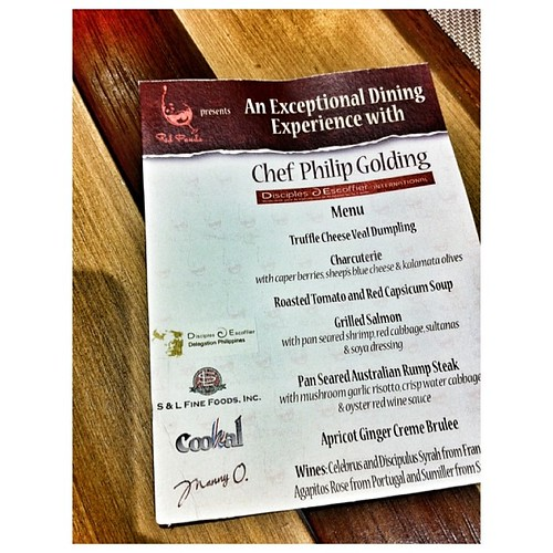 Social Events Menus From Branches: Red Panda Presents Chef Philip Goulding