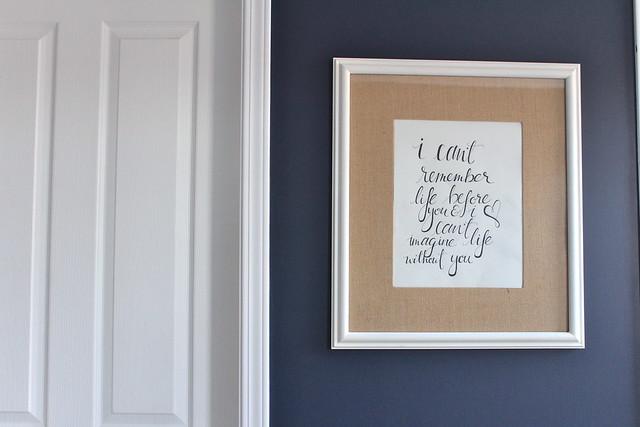 Master Bedroom - DIY Artwork