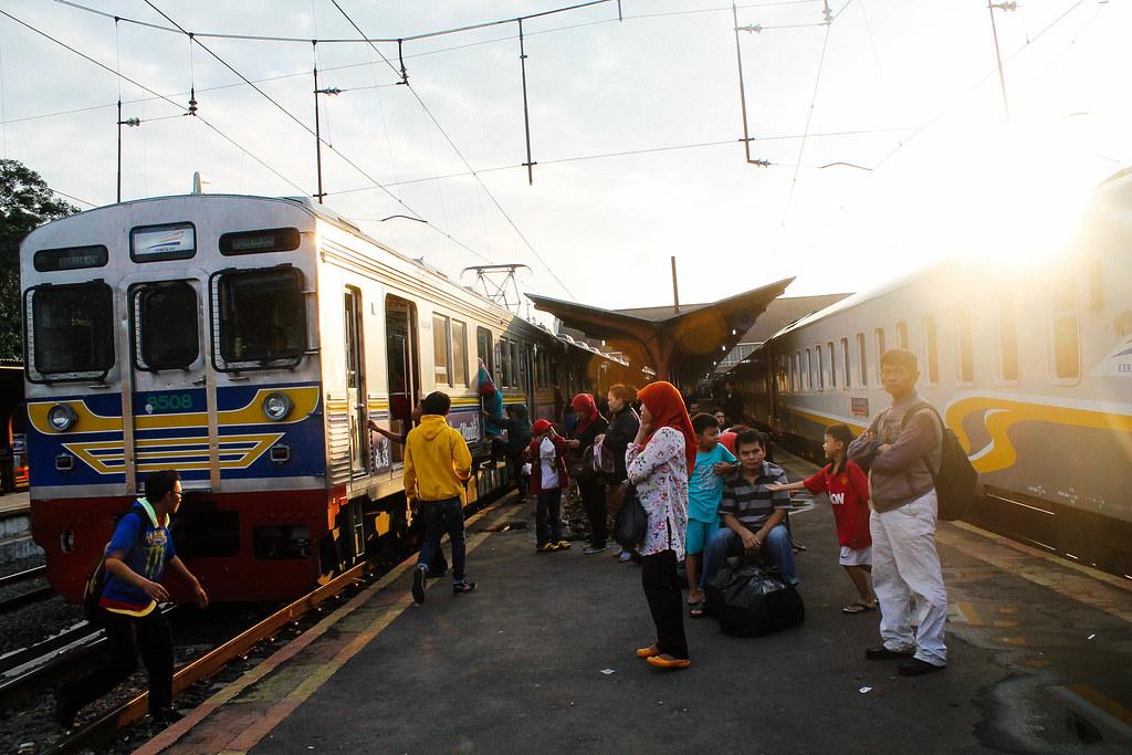 Sunset rush at jakarta Kota