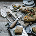 heirloom tomato galette + lemon balm almond pesto & chevre by Beth Kirby   {local milk}