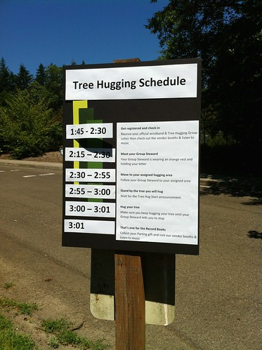 Tree hugging schedule