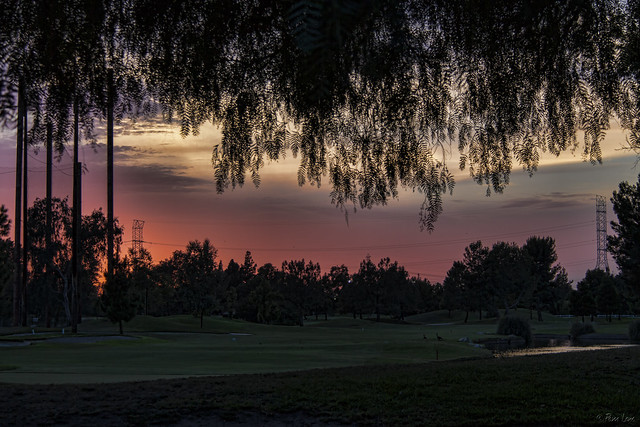 Sunset over Rio Hondo Golf Course