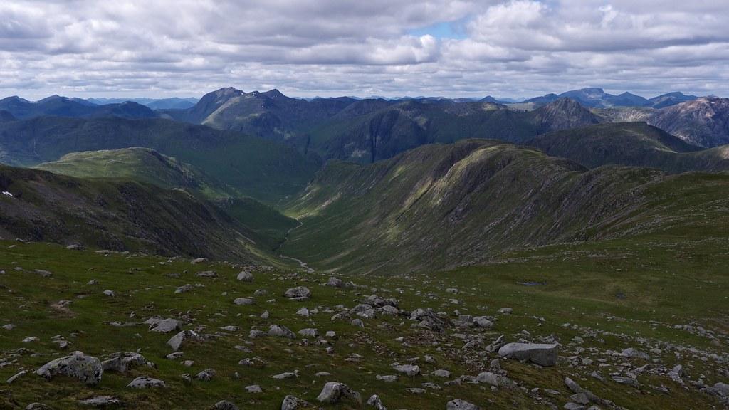 Glencoe and Etive Hills from Stob Ghabhar
