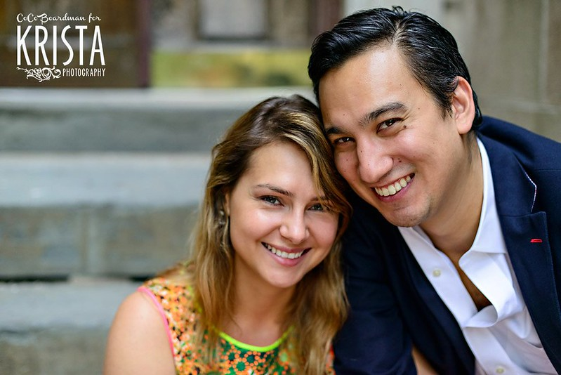 Summer Engagement Portrait Session at UPenn in Philadelphia