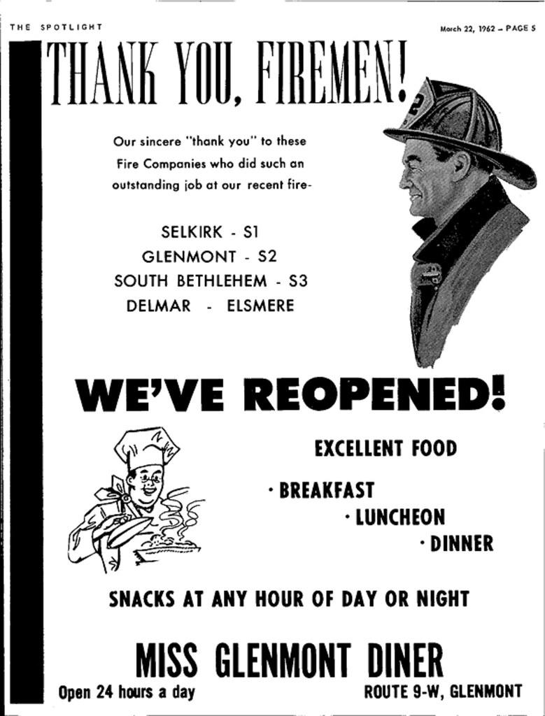 Mis Glenmont Diner Rte 9W 1962 albany ny 1960s | AlbanyGroup