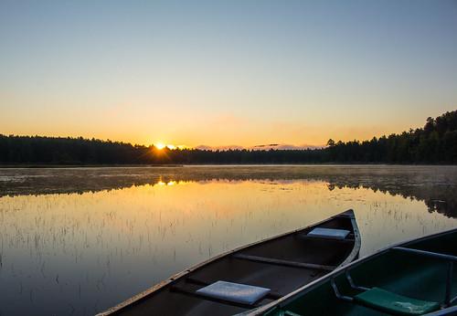 morning lake water sunrise dawn pond newhampshire nh canoe canoes letterc thechallengefactory moorespond ispywinner weeklyalphabetgroup