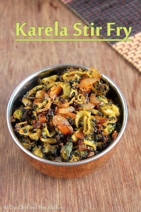 Kakarakaya Ullipaya Vepudu | Karela Fry | Bittergourd Stir Fry