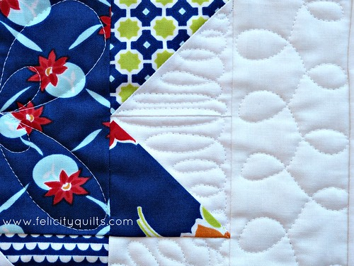 Miss Kate quilting closeup