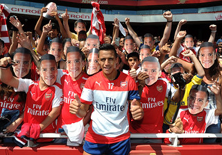 Alexis Sanchez of Arsenal
