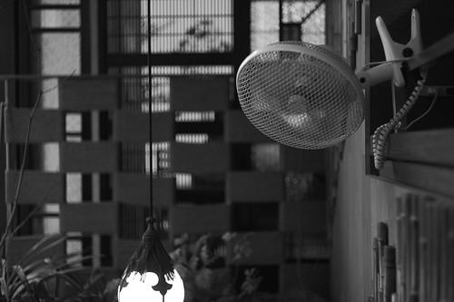 お店の扇風機