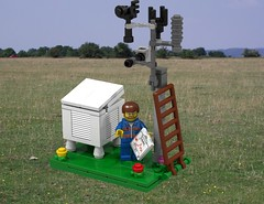 Lego MOC Weather Station / Meteorologist - alternative view