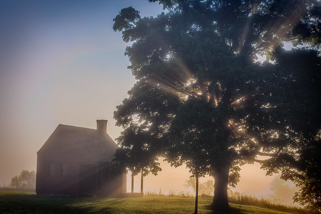 Sunrise at the Saratoga Battlefield