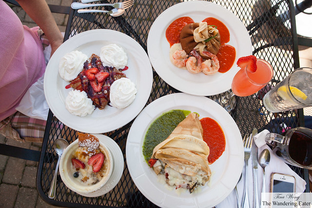 Our spread of crêpes for Sunday breakfast