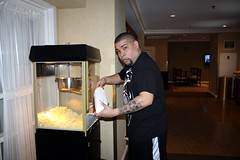 Louie Getting Some Popcorn
