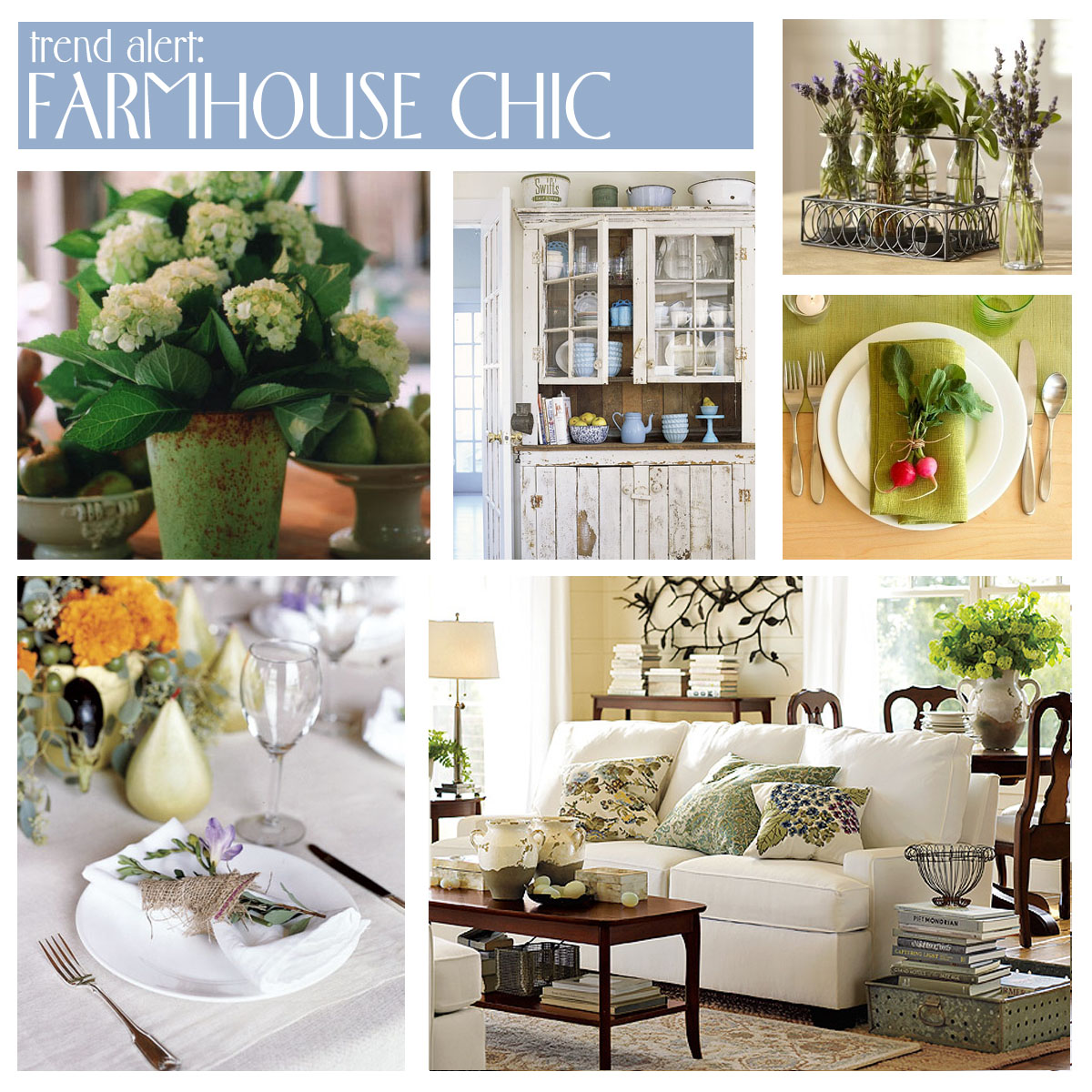 Farmhouse Chic Decorating | #LivingAfterMidnite