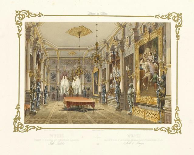003-Sala comedor del palacio en Werkei-Album Vilnius-Biblioteca Polona