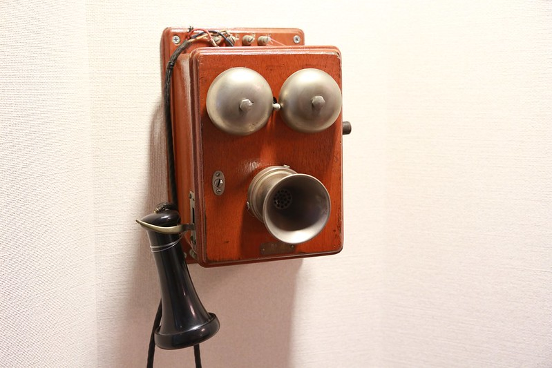 好可愛的老電話