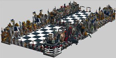 YouTube link LDD gameplay 852293 Castle Giant Chess Set -  base on Aanchir's LXF