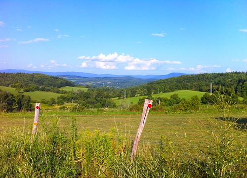 ny mountains fence bluesky farmland hills fields hoosick