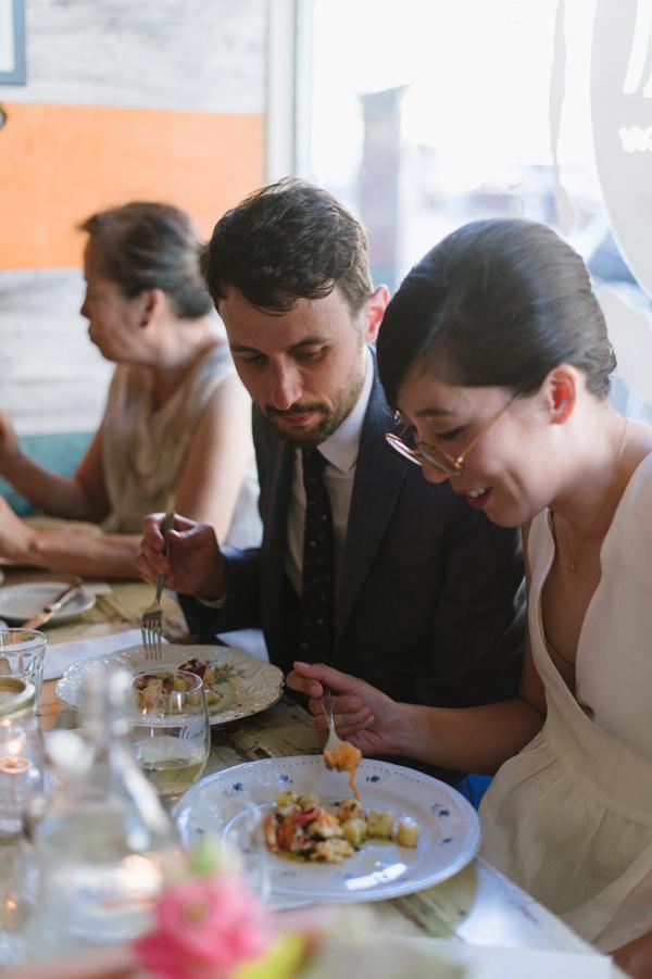 Celine Kim Photography intimate High Park Parkdale restaurant wedding Toronto wedding EM-79