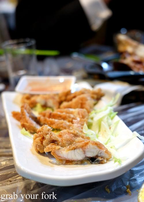 Deep fried eel at Tai Chung Wah, Cheung Sha Wan, Hong Kong