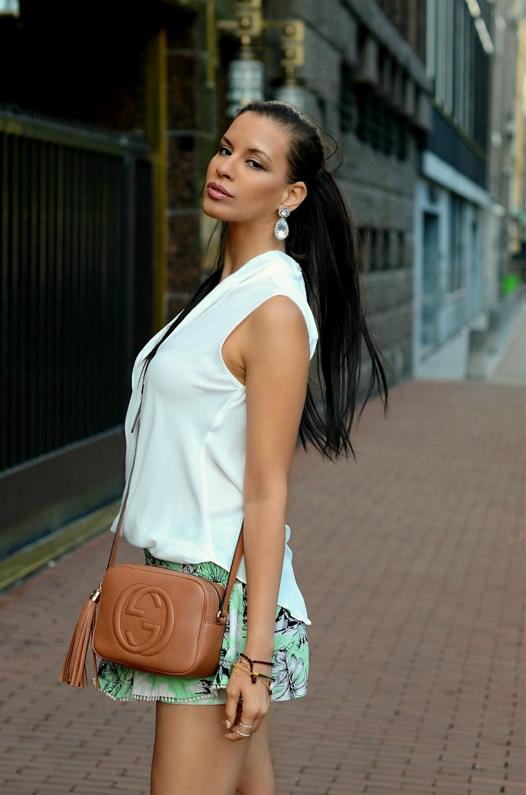 DSC_2673 Gucci Soho Disco bag, Zara Skorts, River Island blouse(2)