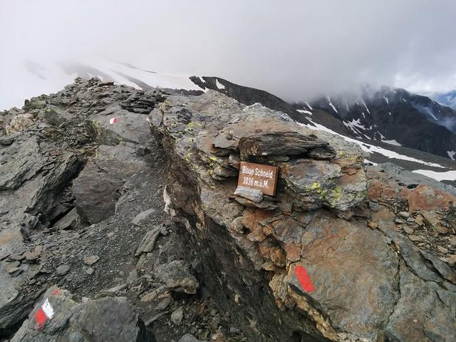 Aufstieg Hasenöhrl, Blaue Schneid 3.036 m