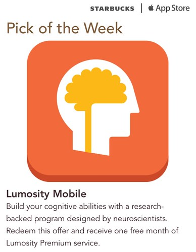 Starbucks iTunes Pick of the Week - Lumosity Mobile