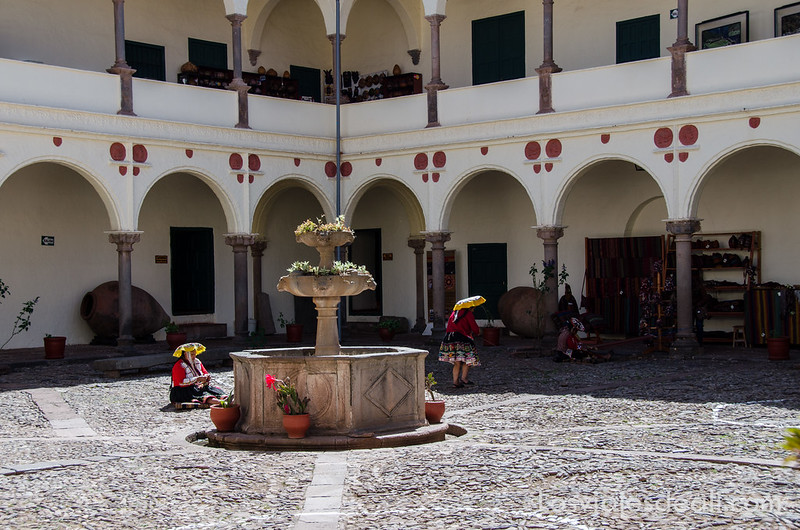 patio del museo inca de Cuzco