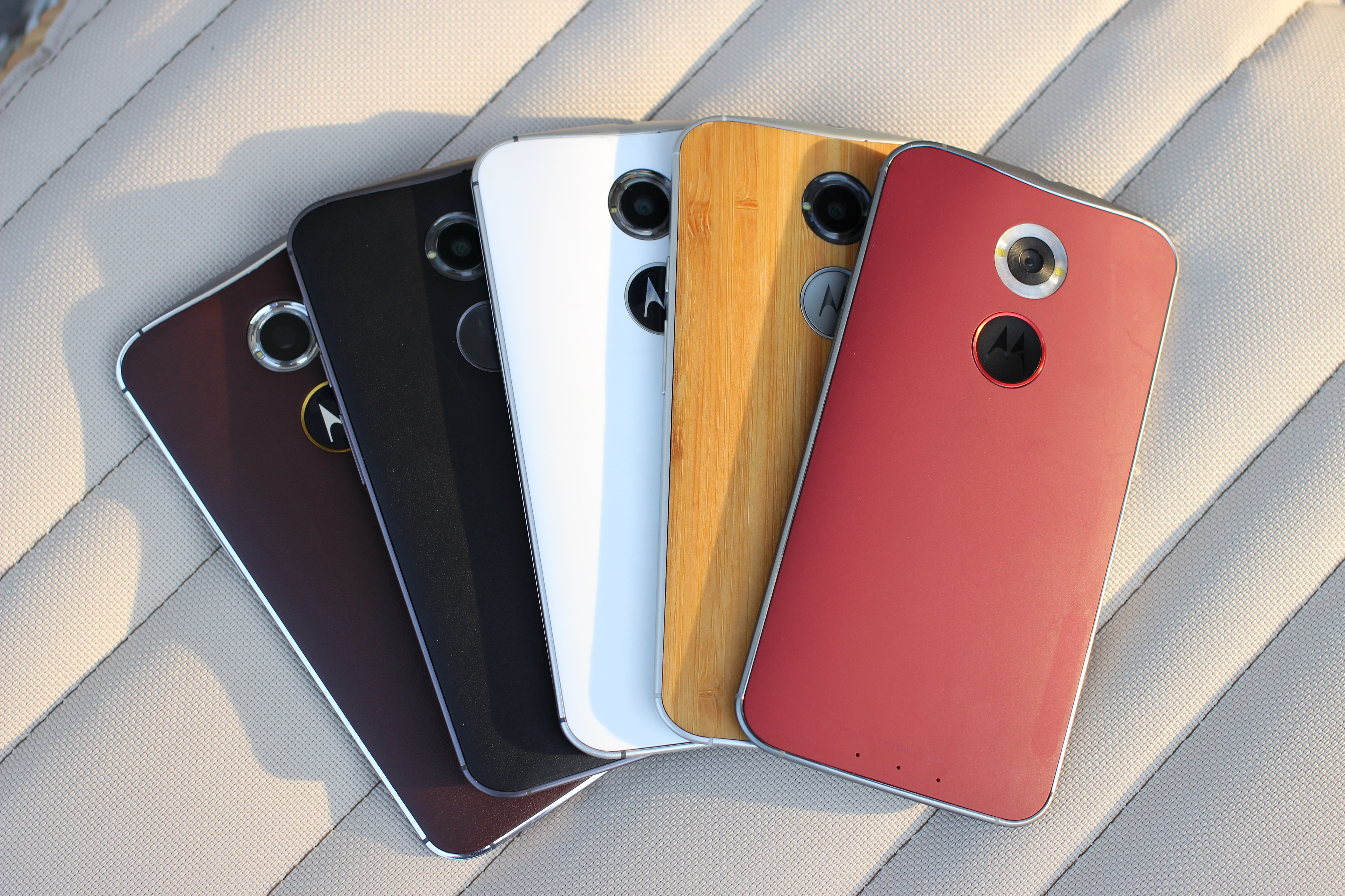 Motorola Phones Lined Up