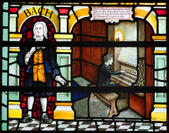 Henry Wood memorial window detail: Bach