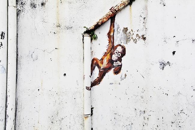 Malaysia, Borneo, Sarawak, Kuching Street Art