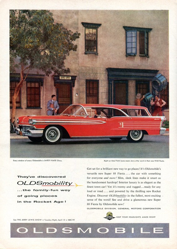 1958 Oldsmobile Super 88 Fiesta featuring Jerry Lewis - published in Time - March 24, 1958