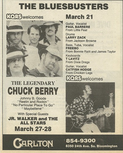 03/27 - 28/87 Chuck Berry/ Jr Walker & The All-Stars @ The Carlton, Bloomington, MN
