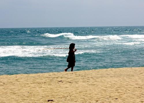 local tribal kid on Arrecifes beach