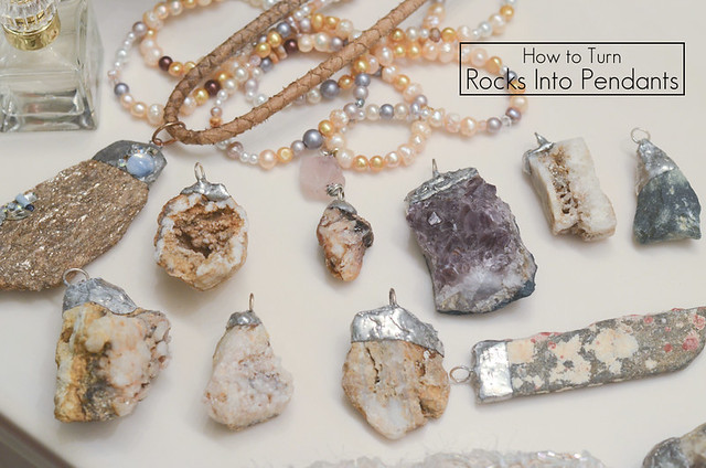 How to Make a Rock Into a Pendant: Paris Rock Necklace