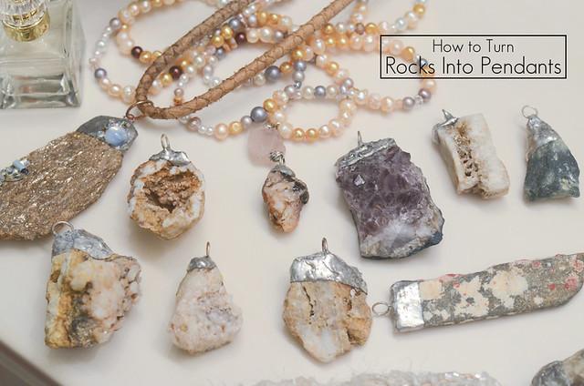 How To Make A Rock Into A Pendant Paris Rock Necklace