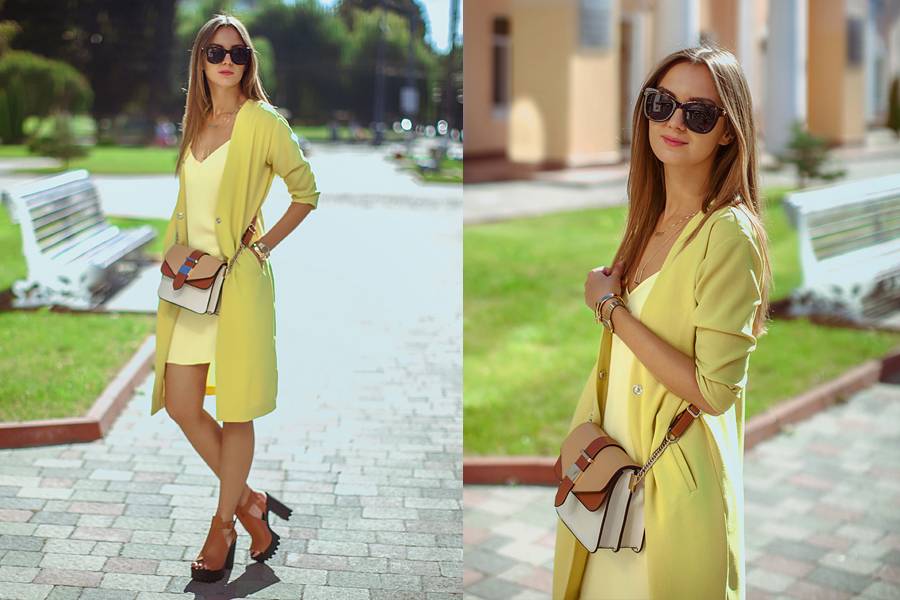 how-to-wear-a-yellow-duster-coat-street-style
