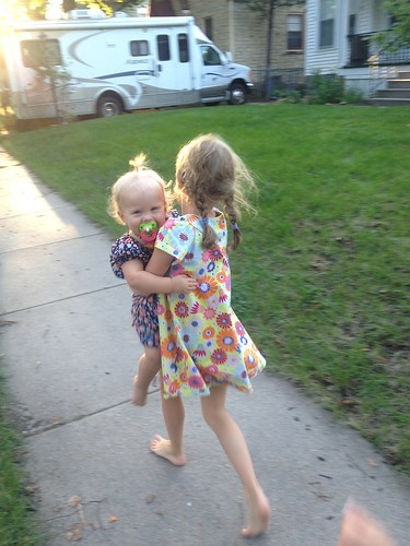 carrying sister
