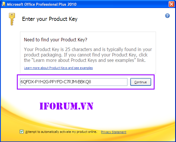 Microsoft word says my product key is wrong :|?