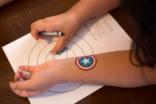 Captain America Party Coloring Shield #HeroesEatMMs #Shop